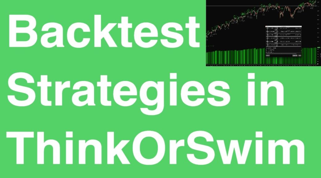 Thinkorswim options strategies