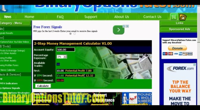 Binary options trading calculator