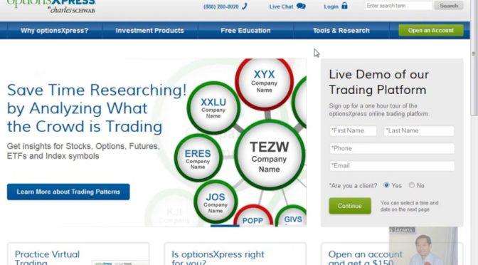 cara trading di optionsxpress
